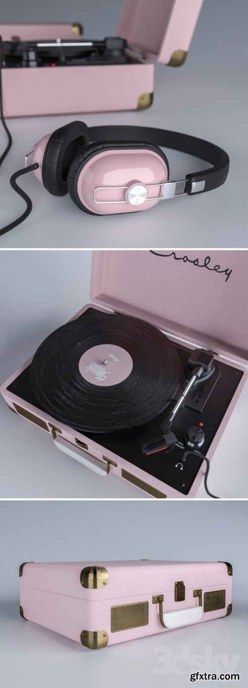 Crosley Vinyl player 3D MODEL
