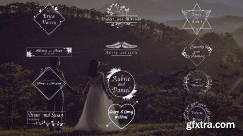 MA Gorgeous Wedding Titles 4K 334002