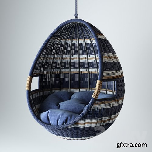 Crate and Barrel Swing Chair 3D model