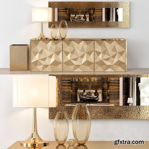 Fendi Console Table Home Collections 3d model