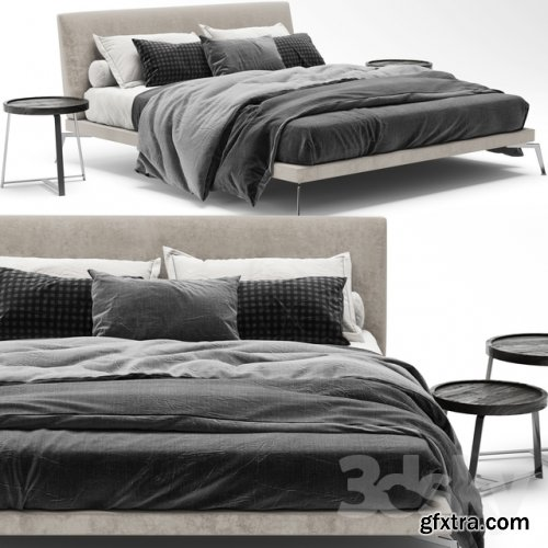 Flexform Feel Good Bed 3d model