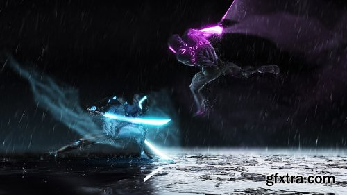 VideoHive Ninja Battle Logo 25207826