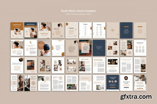 CreativeMarket - eBook template InDesign Kayla 4331657