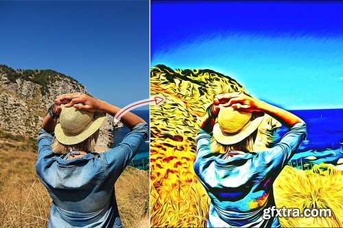 CreativeMarket - Retro Oil Paint Action 4353304