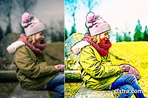 CreativeMarket - Oil Paint Infusion Action 4353340