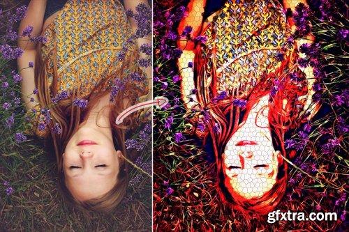 CreativeMarket - Pixelate Oil Paint Action 4353339