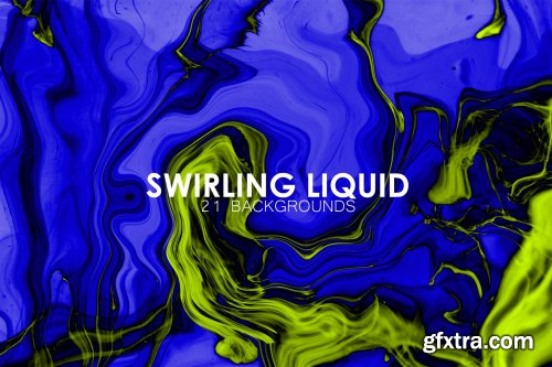 Swirling Liquid Background Set