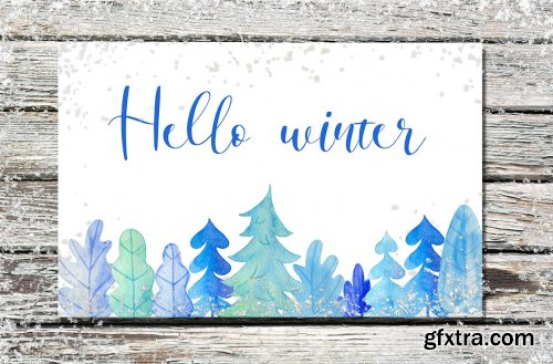 Winter Watercolor Design Kit
