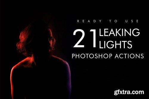 CreativeMarket - 21 Leaking Lights Photoshop Action 4047406