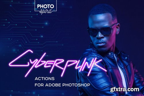 CreativeMarket - Cyberpunk Actions For Photoshop 4326117