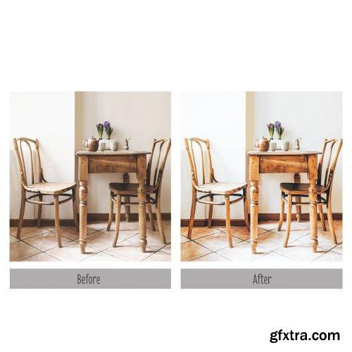 CreativeMarket - 10 Bright Interior Lightroom Presets 4320167
