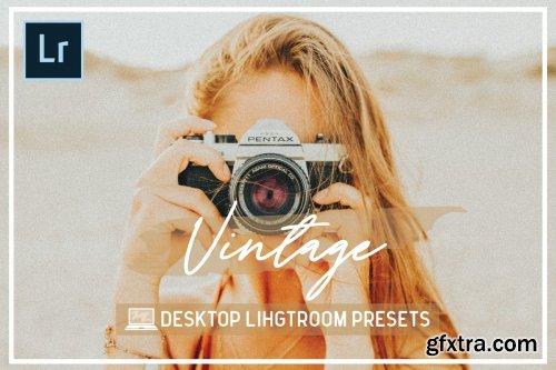 CreativeMarket - Desktop Vintage Lightroom Presets 4329148