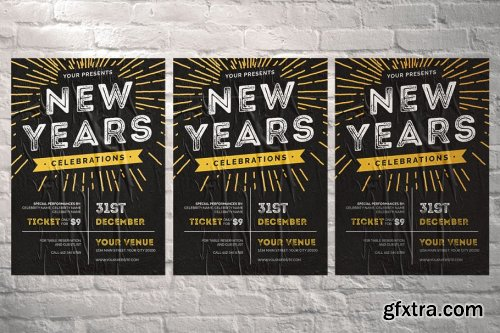 New Years Celebration Flyer 4377715