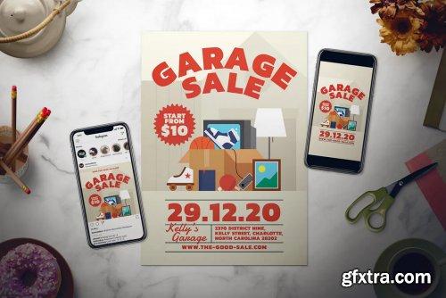 Garage Sale Flyer Set