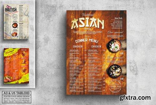 Vintage Poster Food Menu Bundle - A3 & US Tabloid 2