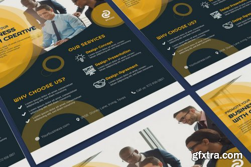 Business, Corporate Poster Illustration Template