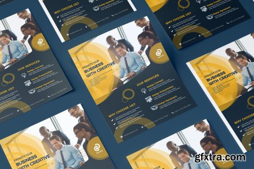 Business, Corporate Flyer Illustration Template