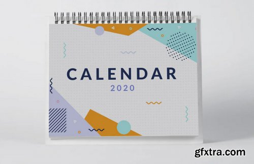2020 Desktop Calendar Mock Up