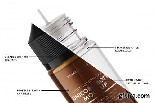 CreativeMarket - Unicorn Bottle Mockup 4341878