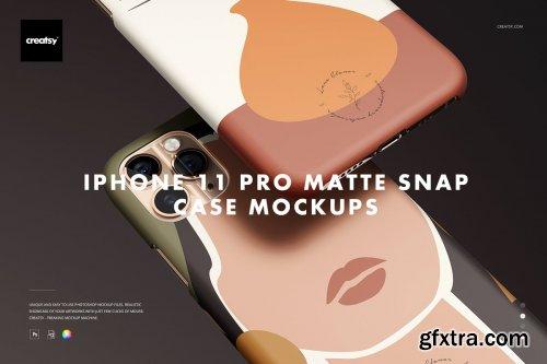 CreativeMarket - iPhone 11 Pro Matte Snap Case Mockup 4364960