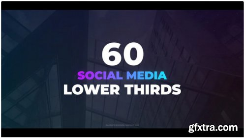 60 Social Media Lower Thirds - After Effects 314137