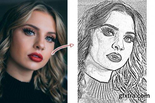 CreativeMarket - Sketch Oil Paint Action 4353302