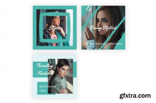 21 Social Media Banners Kit (Vol. 4) in Adobe XD