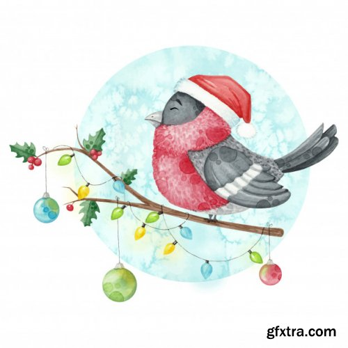 20 Cute Watercolor Christmas Illustration