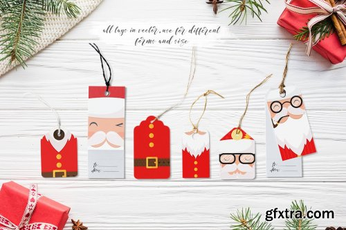 CM Santa Claus Tags and Cards-4182456
