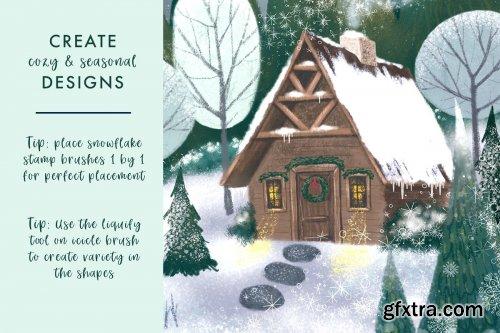 CreativeMarket - Magical Snow Procreate Brushes 4355047