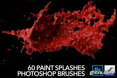 CreativeMarket - 60 Paint Splash Brushes for PS 4388616