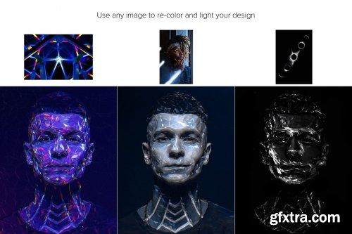 CreativeMarket - Polygon Photoshop Action 4403769