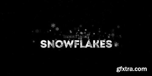 Gold & Silver Snowflake Titles - Premiere Pro 325313