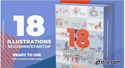 18 Animated SEO Illustrations - Premiere Pro 340355