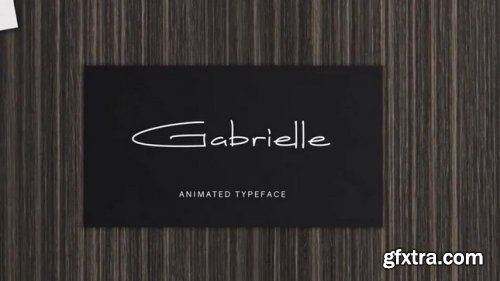 Gabrielle Animated Font - After Effects 343148