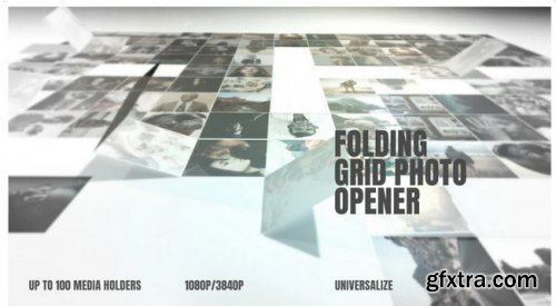 Folding Photo Grid Opener - After Effects 343900