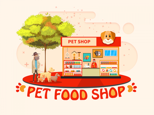 Graphic Design Pet Food Shop