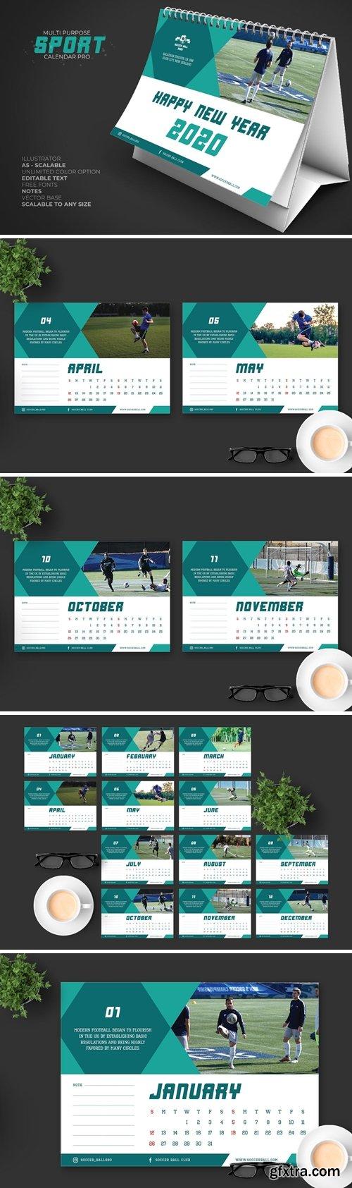2020 Sport Calendar Desk Pro