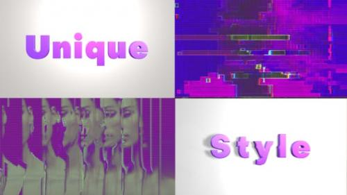Videohive - Fashion Glitch Opener