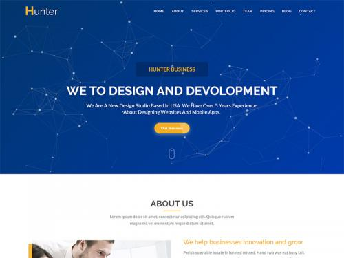 Hunter - One page Corporate HTML5 Template - hunter-one-page-corporate-html5-template