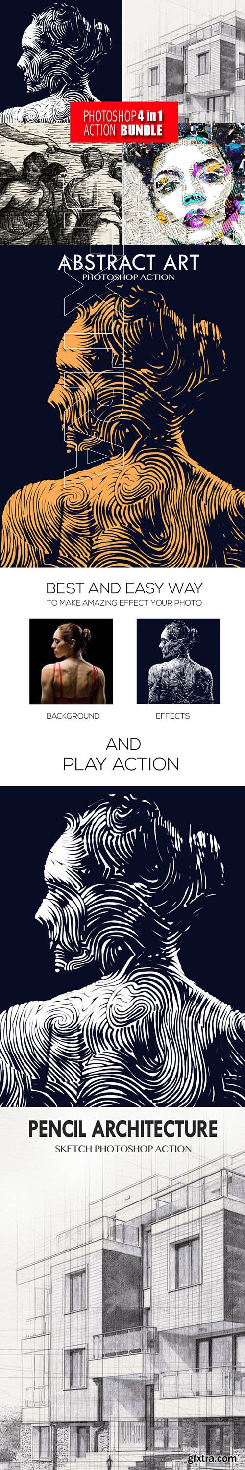 GraphicRiver - Photoshop 4in1 Actions Bundle V5 25361083