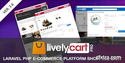 CodeCanyon - LivelyCart PRO v3.4.0 - Laravel E-Commerce Platform   Shopping Cart - 23546516
