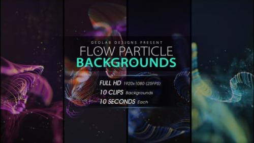 Videohive - Flow Particles Backgrounds