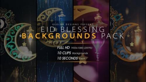 Videohive - Eid Blessing Backgrounds Pack