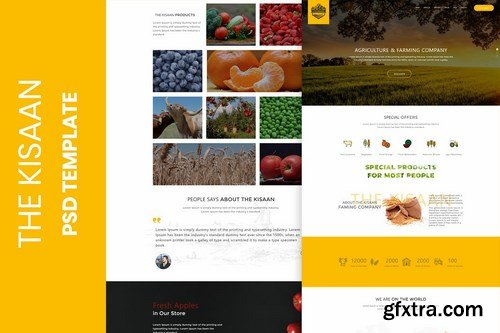 The Kisaan One Page PSD Template