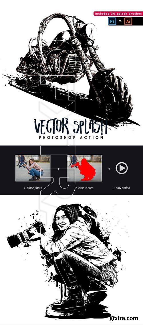 GraphicRiver - Vector Splash - Photoshop Action 25249087