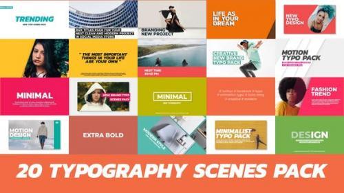 Videohive - 20 Trendy Typography Scenes