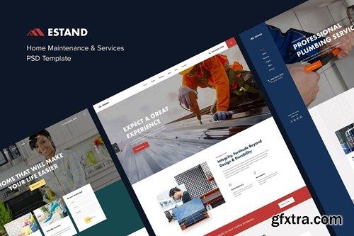 Estand | Home Maintenance & Services PSD Template