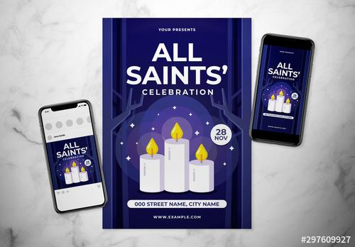 All Saints Day Event Flyer - 297609927 - 297609927