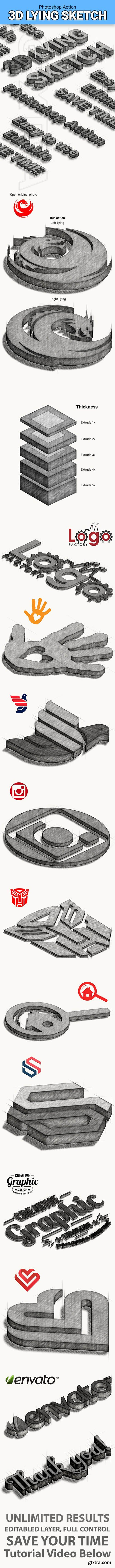 GraphicRiver - 3D Lying Sketch 25287808
